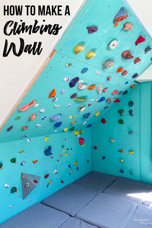DIY rock climbing wall