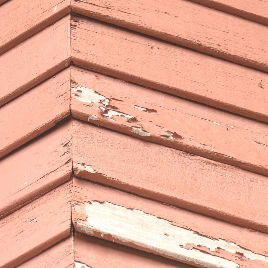 peeling paint on pressure treated wood