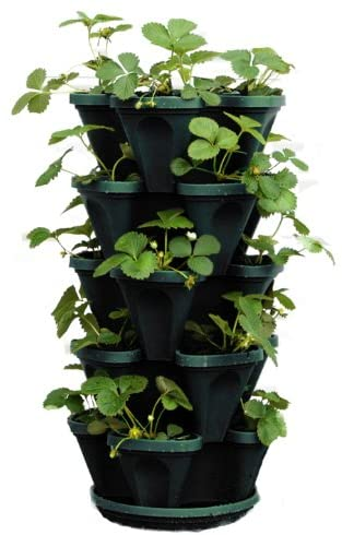 plastic stackable strawberry planter