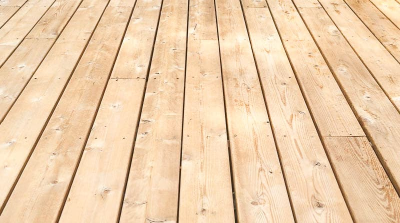 cleaned deck floor before staining
