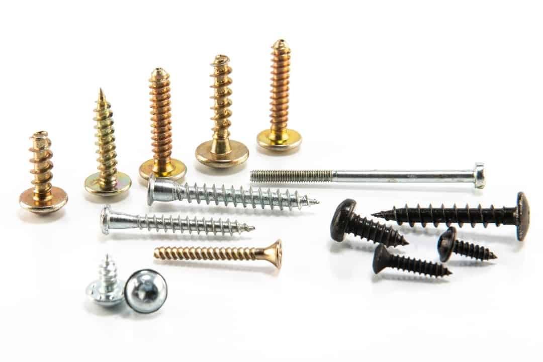 different wood screw materials