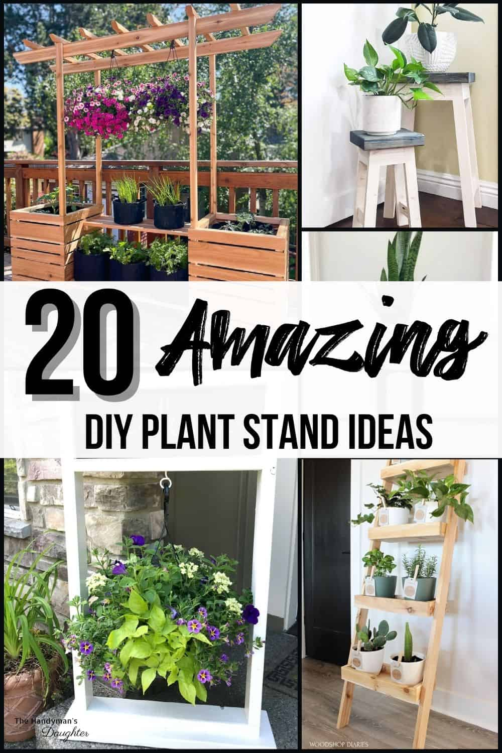 DIY plant stand ideas collage