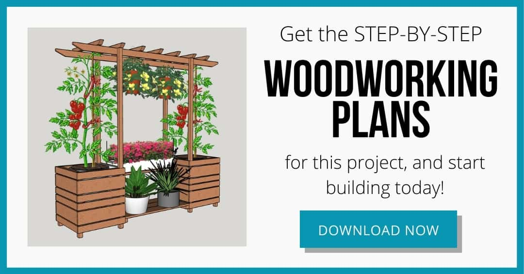 DIY outdoor plant stand woodworking plans