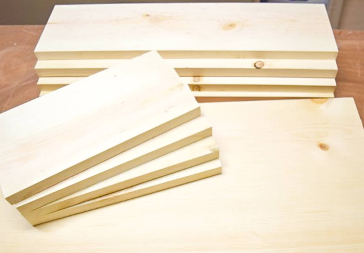 cut pieces for pull out trash can drawer