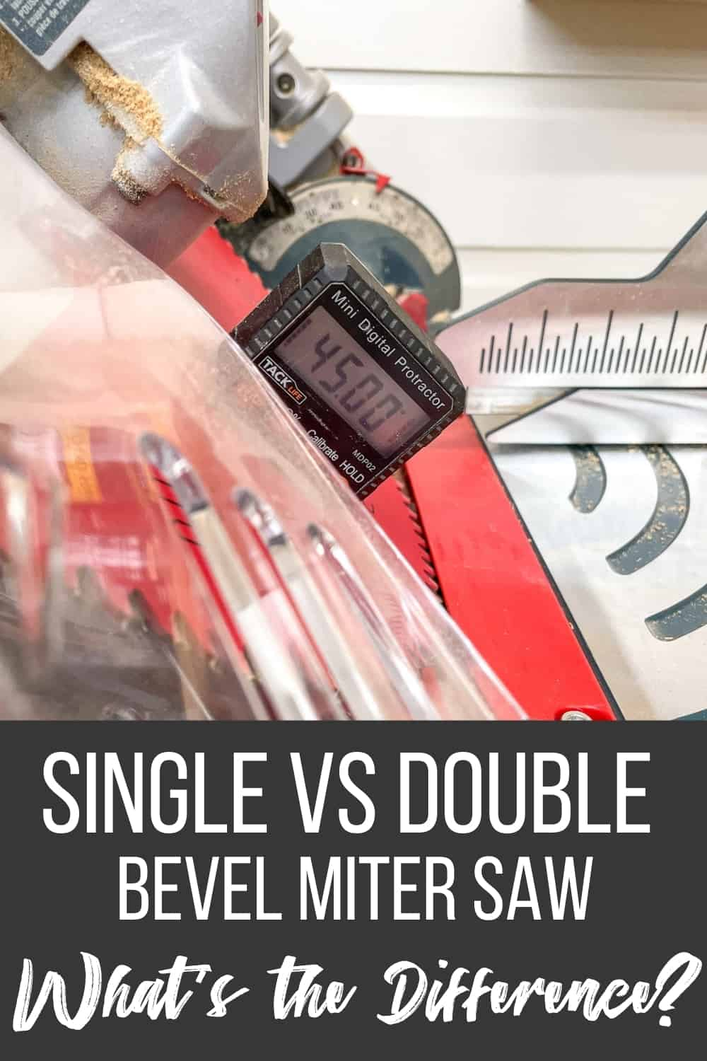 what's the difference between a single vs double bevel miter saw?