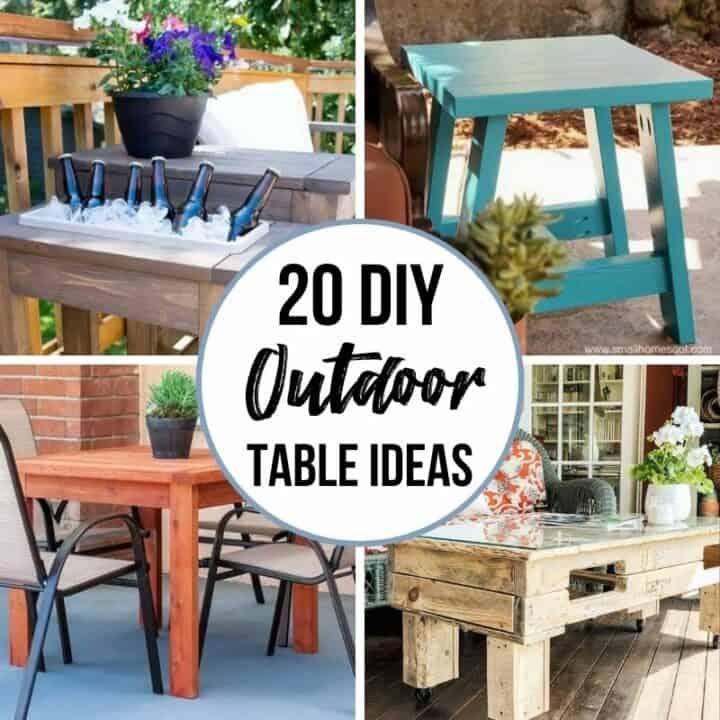 20 DIY outdoor table ideas