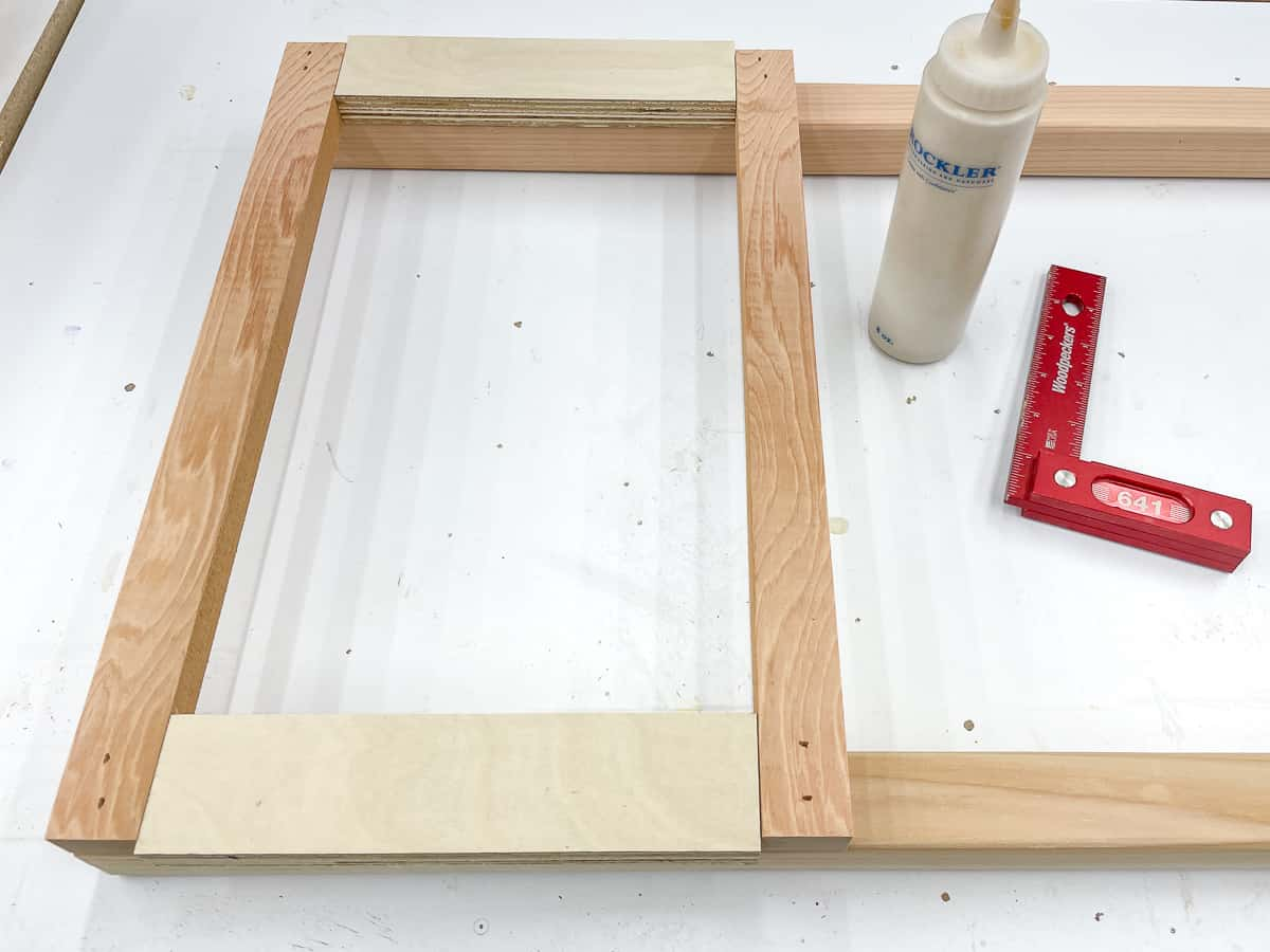 assembling DIY tomato cage with spacer blocks