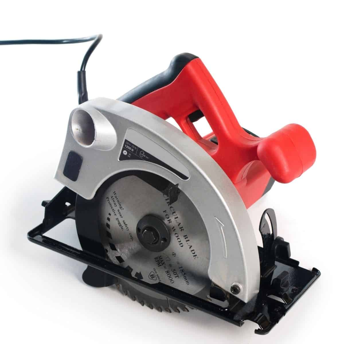 circular saw with red handle