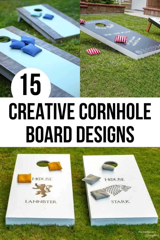 15 creative cornhole board design ideas