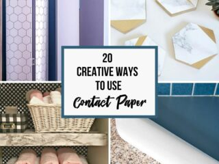 collage of ways to use contact paper