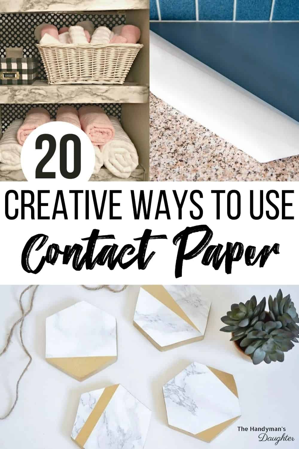 20 creative ways to use contact paper with collage