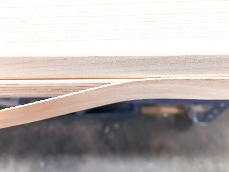 edge banding on plywood barn door
