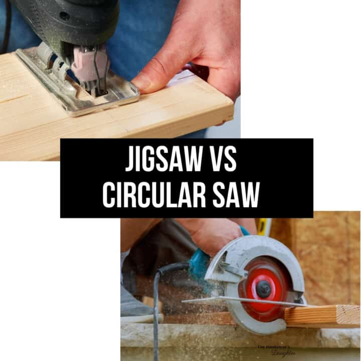 jigsaw vs circular saw with images of both tools in use