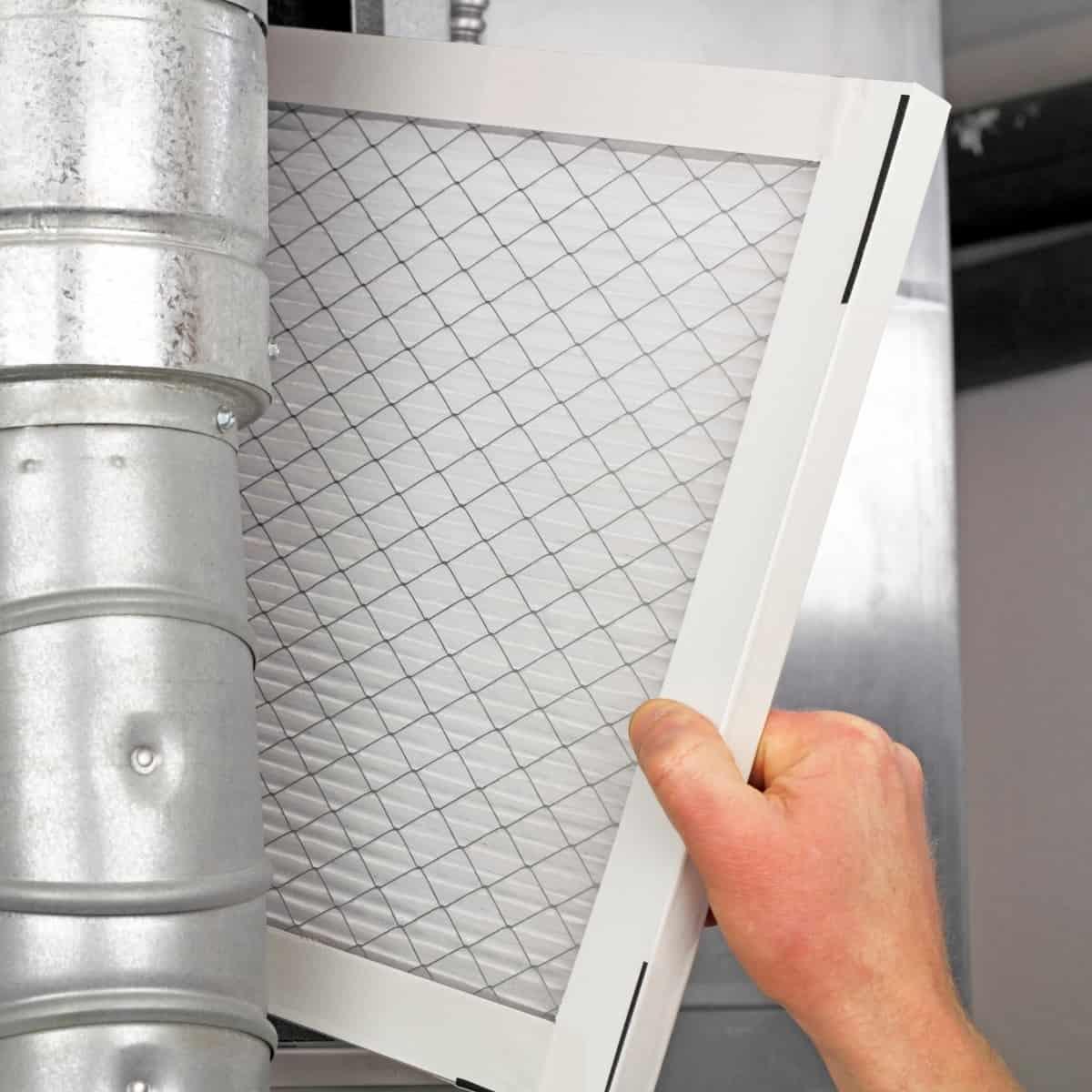 replacing the furnace filter