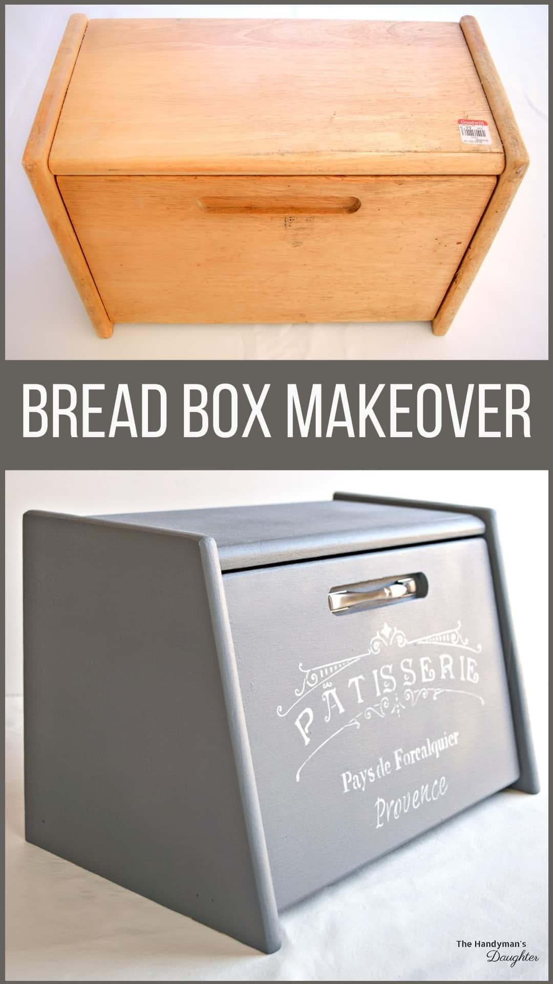 tips for painting a wooden bread box