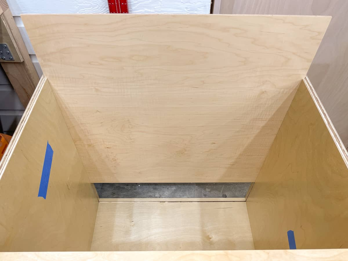 sliding back panel into groove
