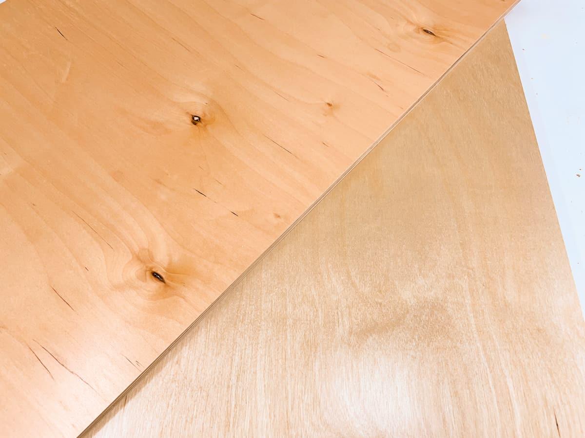 good side vs bad side of plywood