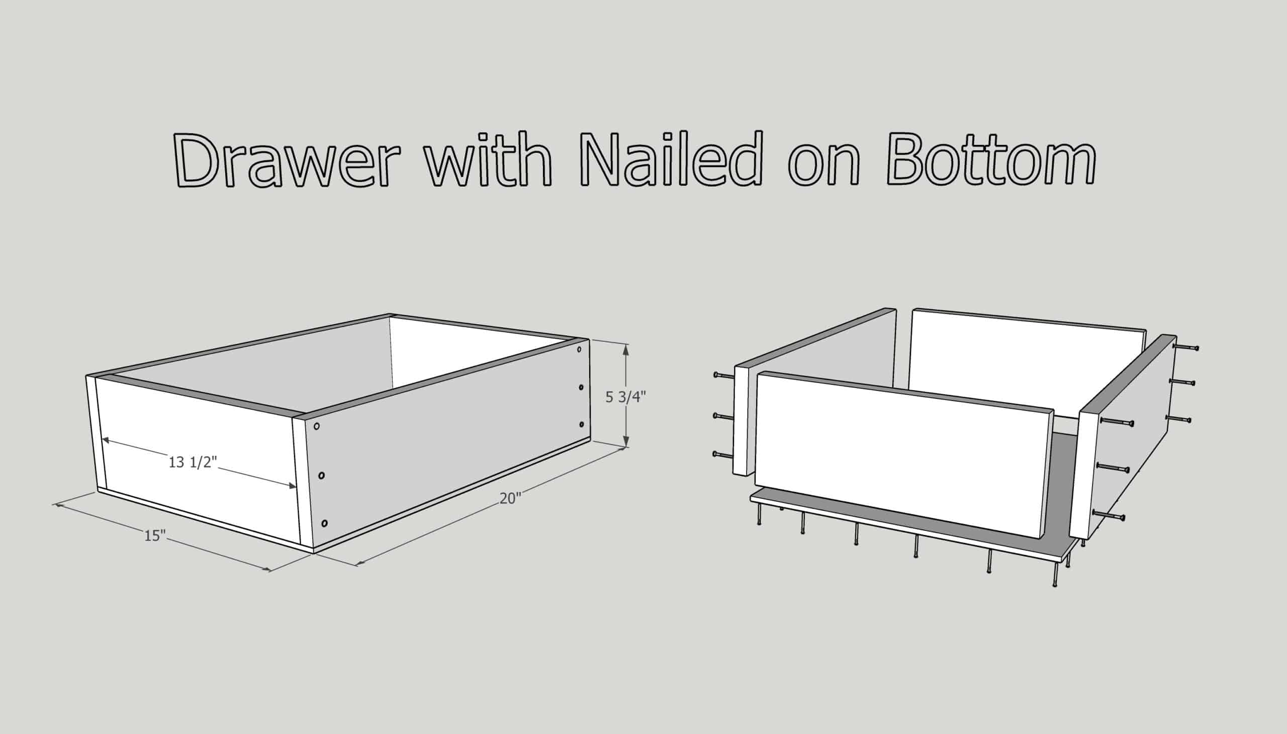 how to make a drawer with a nailed on bottom