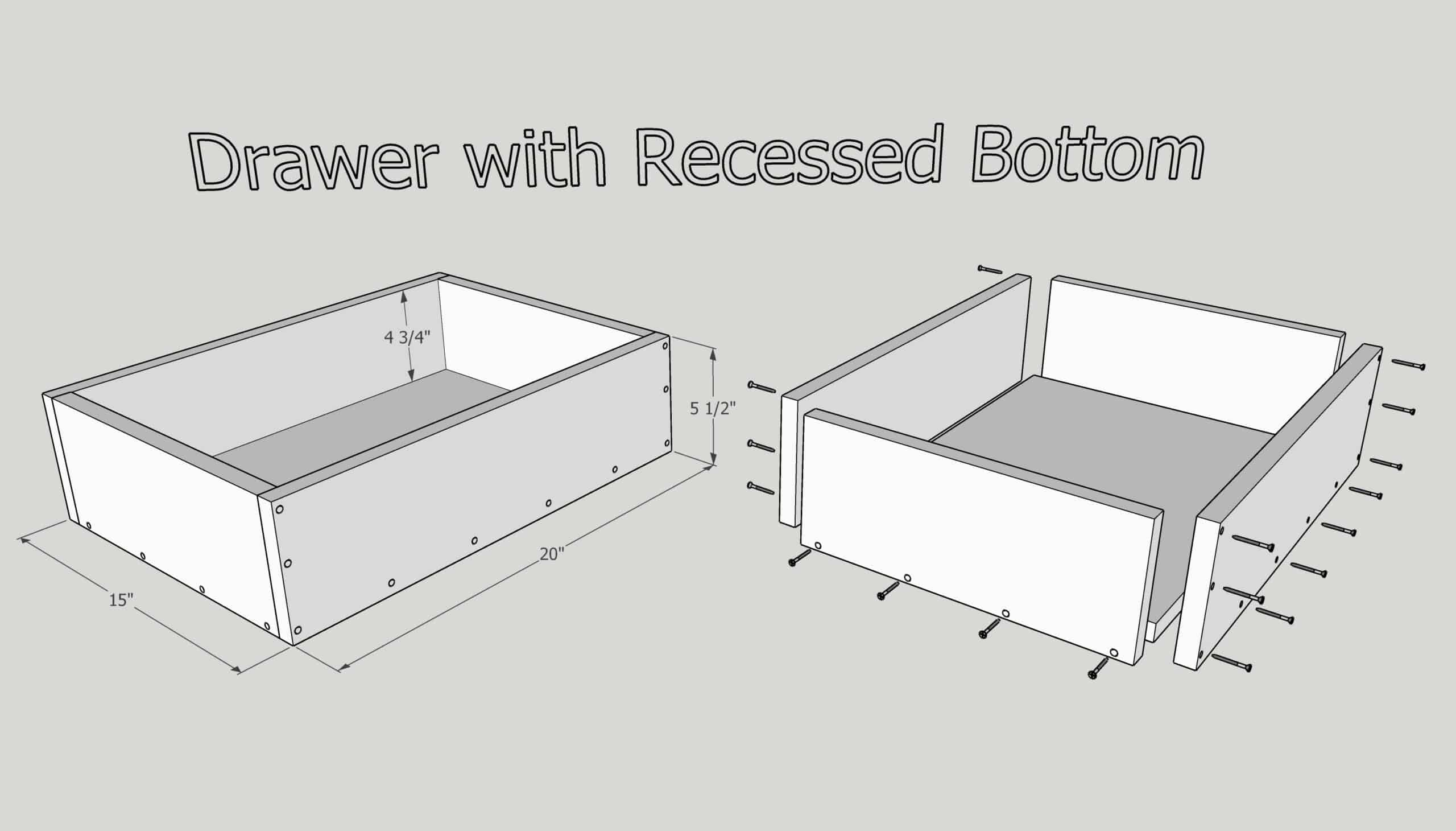 how to make a drawer with a recessed bottom