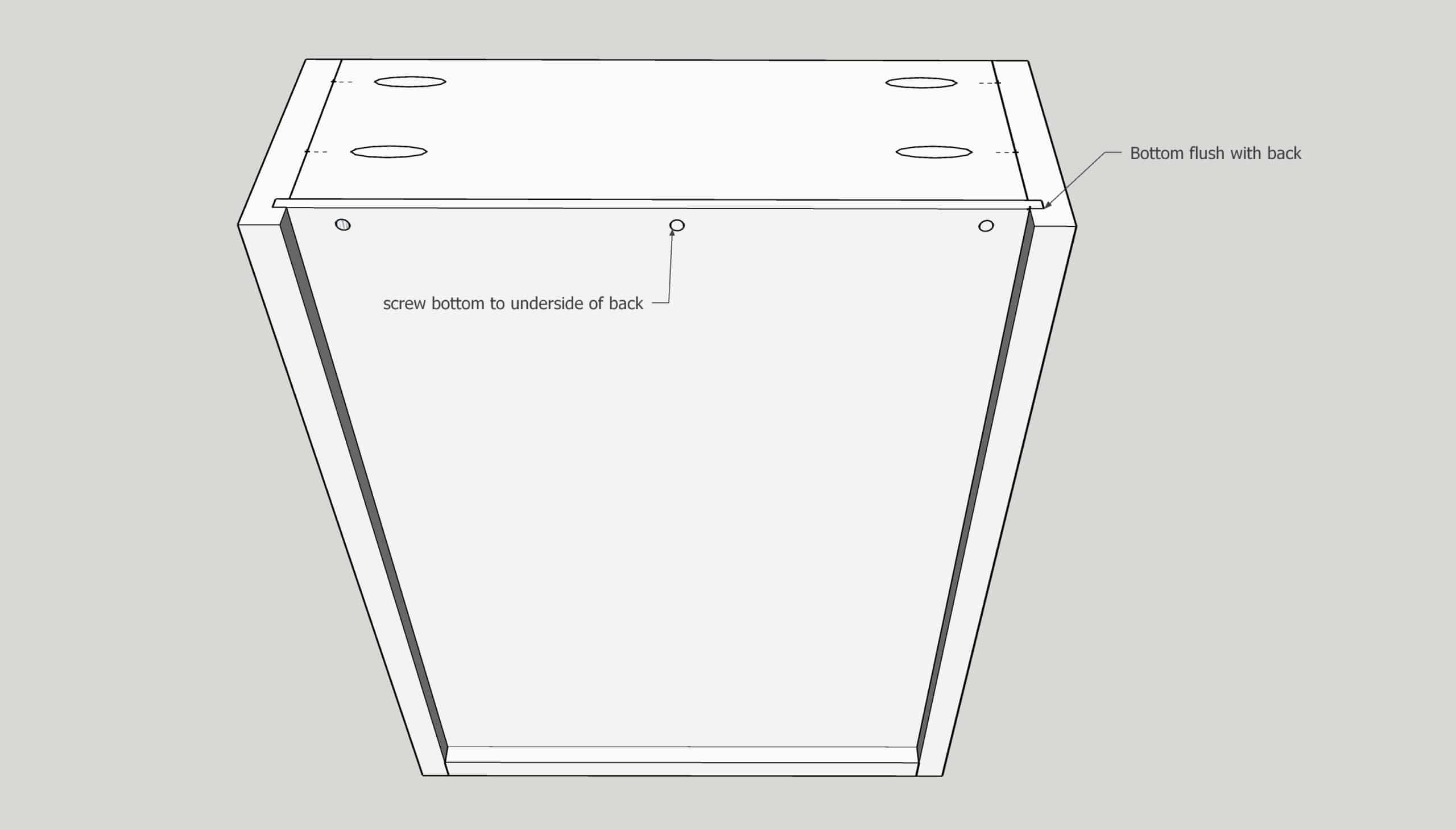 how to make a drawer box with a replaceable captured bottom