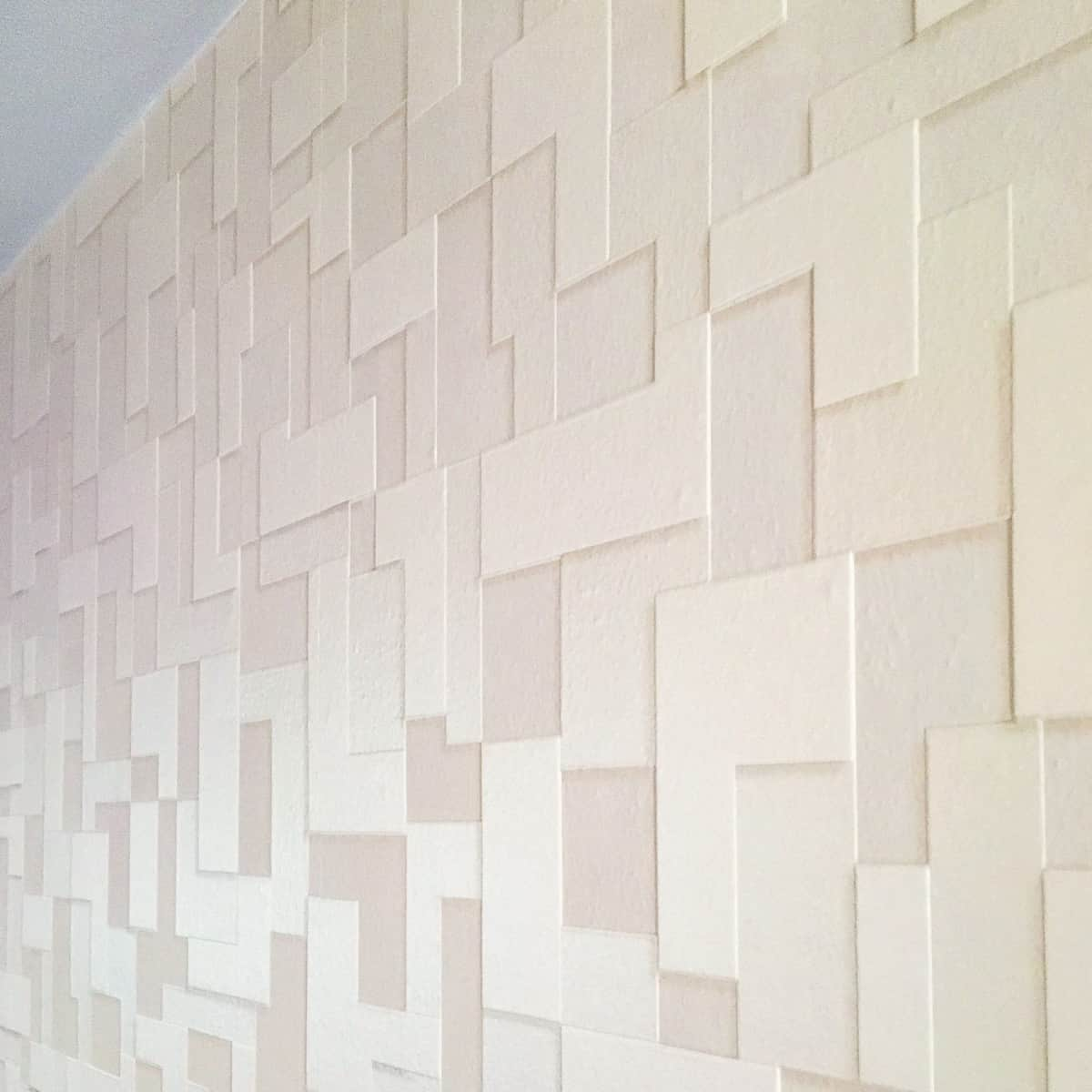 finished textured wallpaper accent wall
