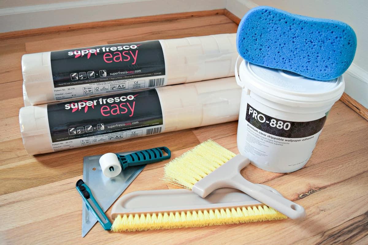 textured wallpaper accent wall supplies